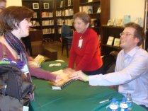 The blurry proof that John Green and I spoke to each other.