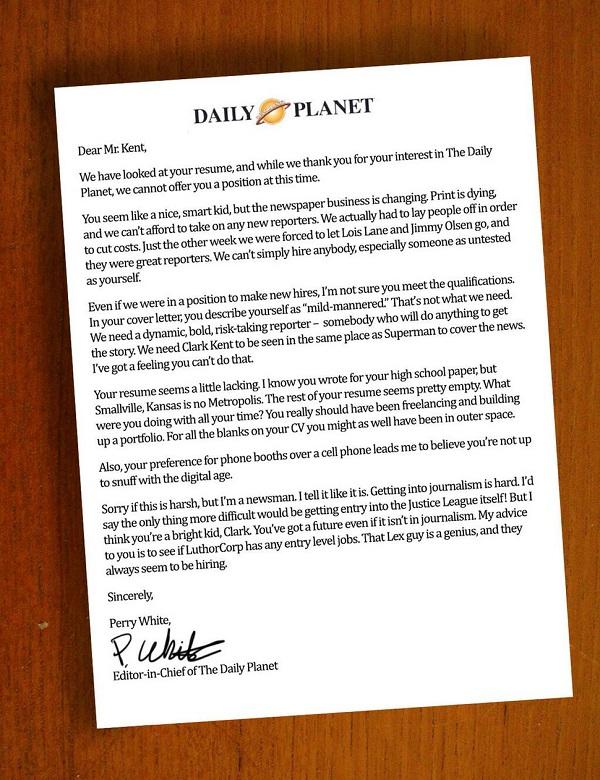 Supermans-rejection-letter