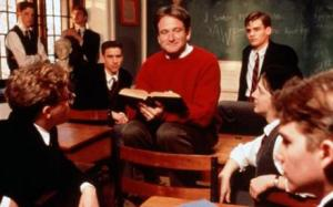 Robin Williams as John Keating in Dead Poets Society